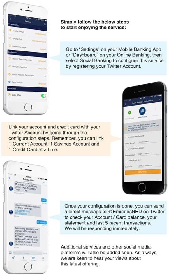 خدمات مصرفية  إجتماعية عبر تطبيق الهاتف