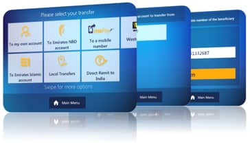 mePay transactions from Emirates NBD ATMs