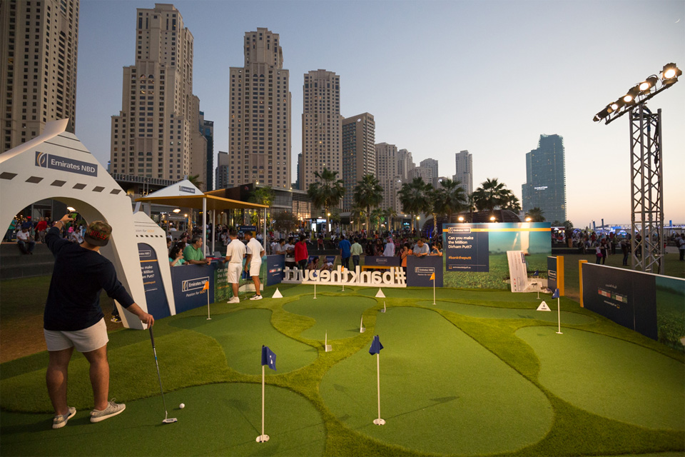Million Dirham Putt 2016 at JBR