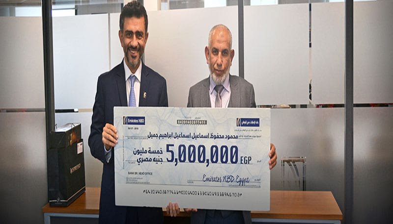 Emirates NBD Egypt announces winner of the EGP 5 Million Campaign