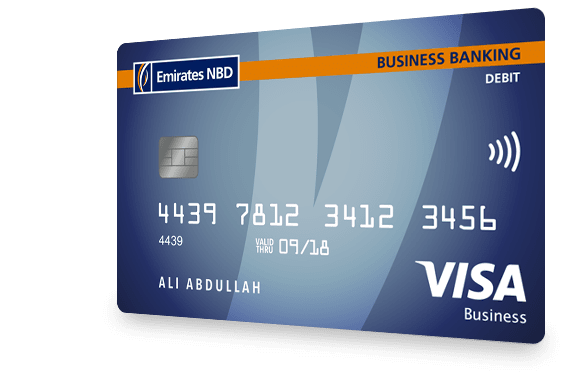 Visa business debit card in uae emirates nbd business debit card reheart Image collections