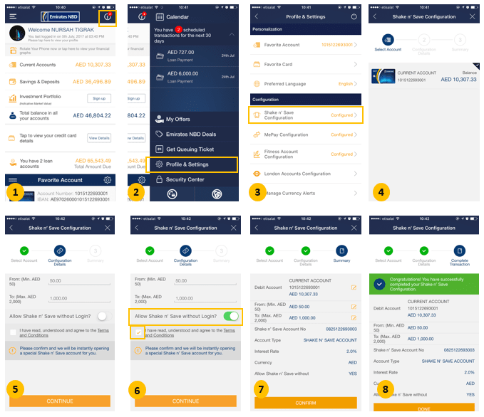 Shake n' Save Account | Emirates NBD