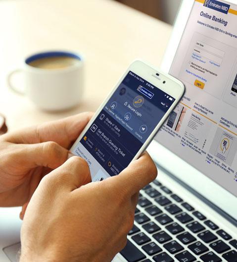 خدمات بنك الإمارات دبي الوطني على الإنترنت
