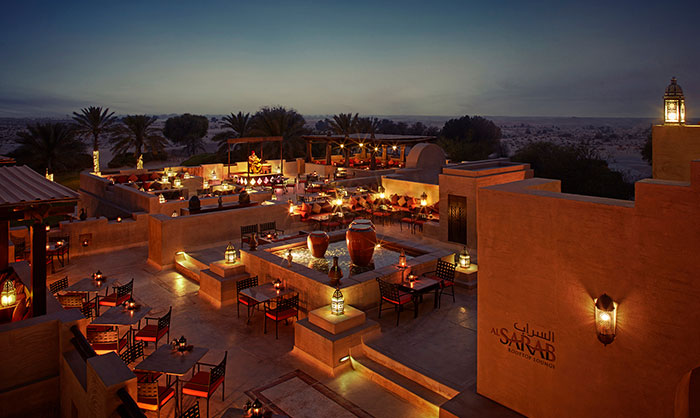 Al Sarab Rooftop Lounge - Bab Al Shams desert Resort & Spa