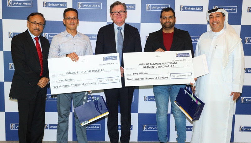 Emirates NBD announces winners  of mega promotional campaign