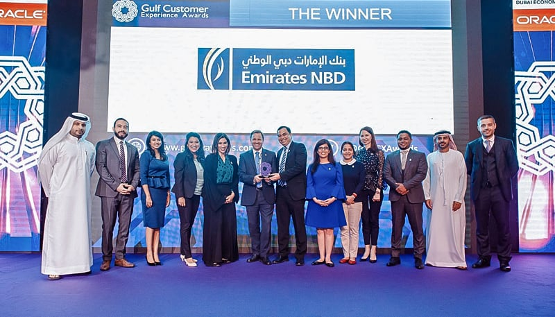 Emirates NBD Group recognised at Gulf Customer Experience Awards