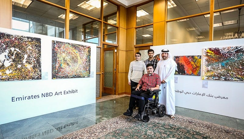 Emirates NBD launches initiative to display and sell art by people of determination