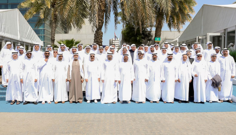 H.H. Sheikh Hamdan bin Mohammad bin Rashid Al Maktoum Crown Prince of Dubai and Chairman of the Executive Council of Dubai, reviewed recent achievements of Emirates NBD